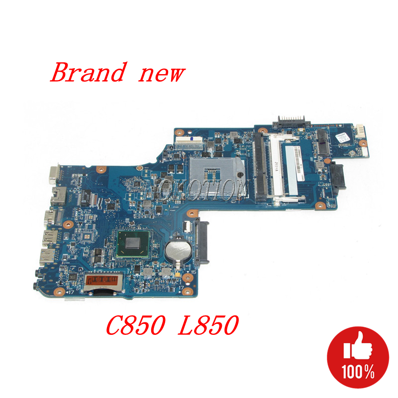 NOKOTION H000052360 Main board For Toshiba Satellite C850 L850 Laptop Motherboard SLJ8E HM76 gma hd DDR3 full tested h000052740 main board for toshiba satellite l850 c850 laptop motherboard 15 6 inch hm70 gma hd ddr3 free cpu
