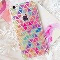 Bird frutas colorido enrejado de diamante case cover para apple iphone 5 5s 5c 6 6 s 7 plus case de silicona suave de la historieta case xy107 xy108