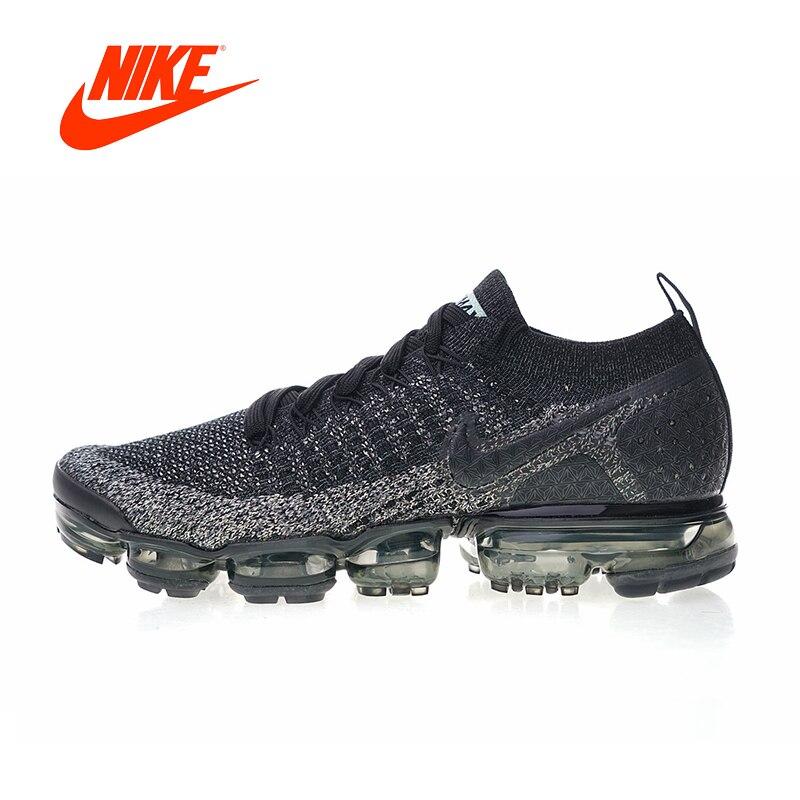 Original Nouvelle Arrivée Authentique Nike Air VaporMax Flyknit 2.0 Hommes Respirant Chaussures de Course de Sport En Plein Air Sneakers 942842-012