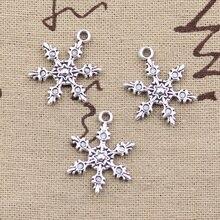 Здесь можно купить  99Cents 12pcs Charms snow snowflake 23*17mm Antique Making pendant fit,Vintage Tibetan Silver,DIY bracelet necklace