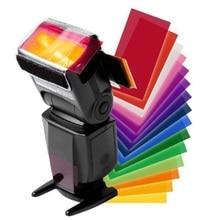 12 шт. цветная карта для Вспышка Strobist гелевый фильтр цветовой баланс с резинкой светильник диффузор для Canon/Nikon для SONY