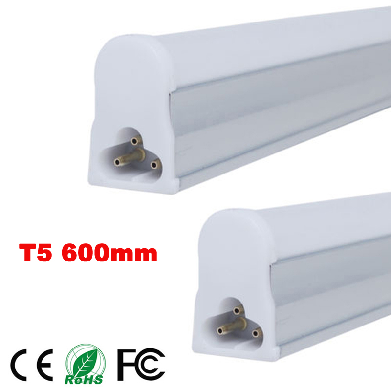 1pc/lot LED Bulbs Tubes 2ft Integrated Tube Light T5 600mm 10W LED tubes AC85-265V SMD2835 Lighting 1000lm LED Fluorescent tubes 50pcs integrated t8 tube144pcs smd 2835 1800mm 6feets 36w led tube light fluorescent lamp t8 85 265v led tubes