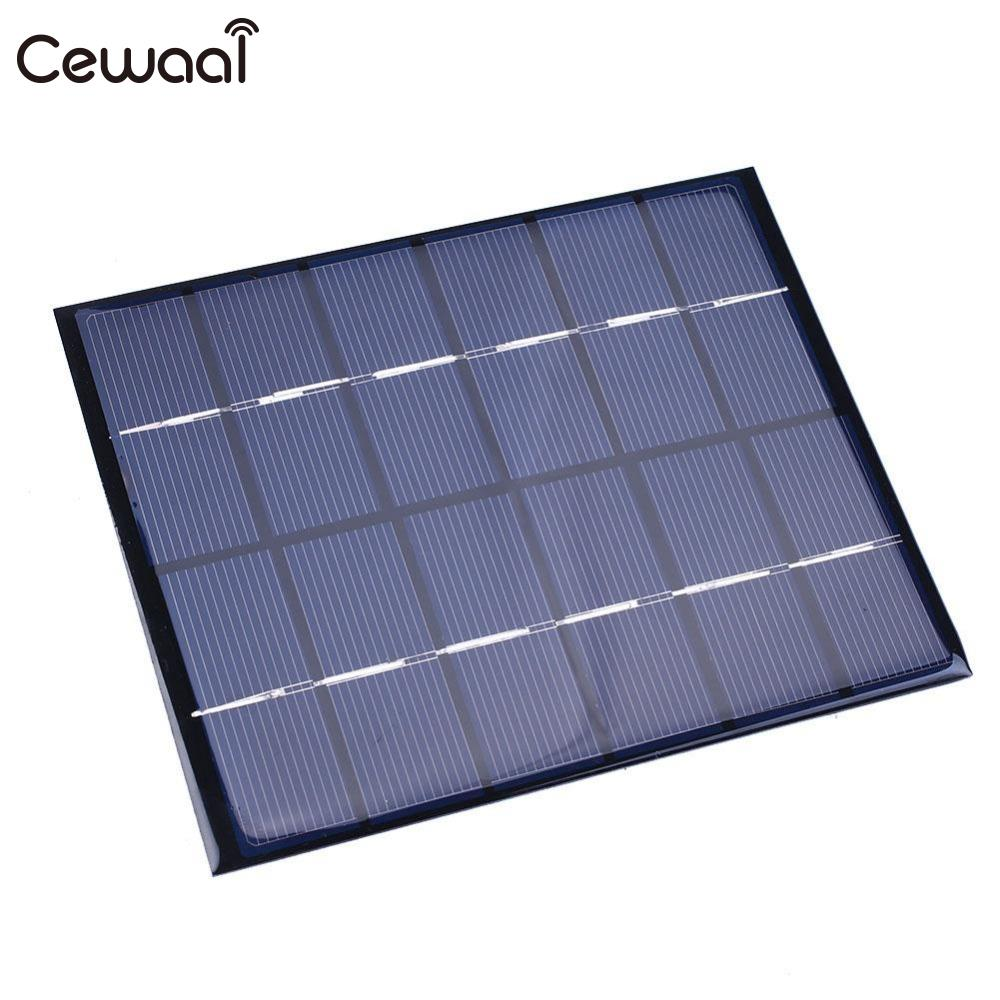 Tablet Chargers Objective Cewaal 6v 2w 330ma Sunpower Solar Power Panel Diy Module For Battery Charger Charging Easy To Install Removing Obstruction