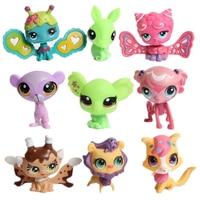 20 unids/set LPS figura de acción figuras de juguete pequeña mascota anime gigure Juguetes animal gato perro figuras niños Muñecas regalos juguetes para Niños