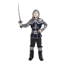Kids Child Medieval Crusader Warrior Archer Hunter Costume for Boys Halloween Carnival Party Costumes
