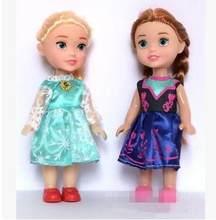 2pc 16cm neve rainha brinquedo bonecas princesa boneca bonecas figura brinquedo princesa crianças dos desenhos animados brinquedos para crianças menina boneca