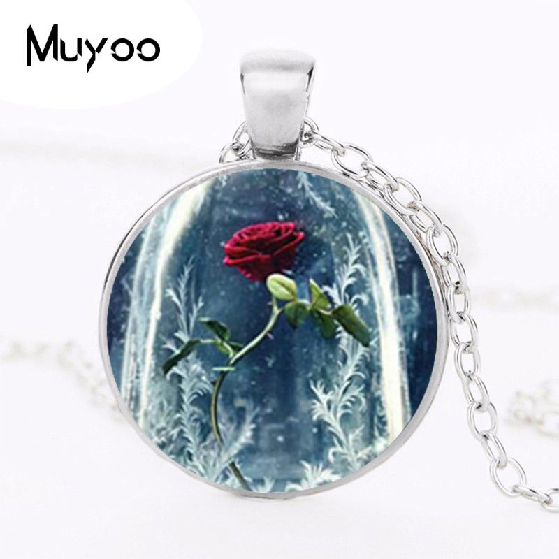 Hot Sale 2017 Beauty and the beast Collares beauty and the beast Womens best friends jewelry pendant HZ1