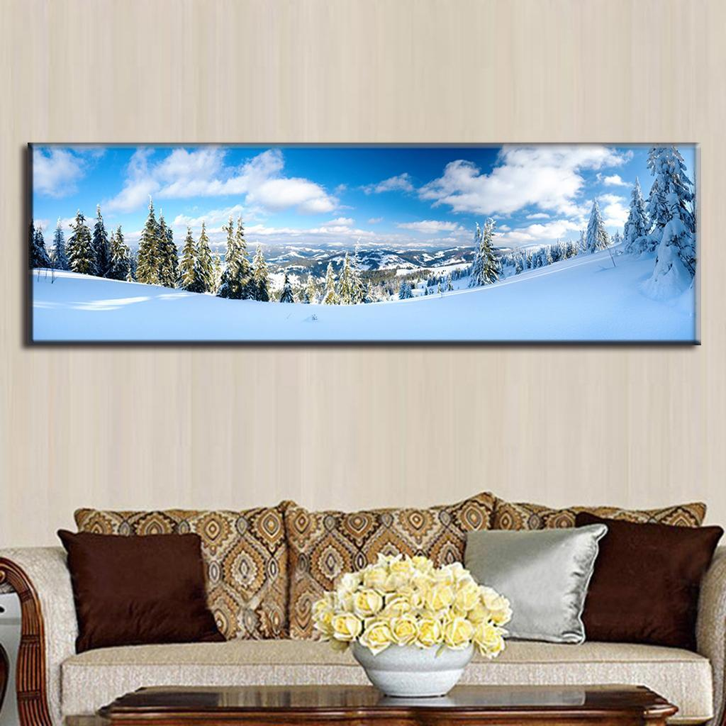 Buy 1 piece large size the winter snow for Where to buy canvas art