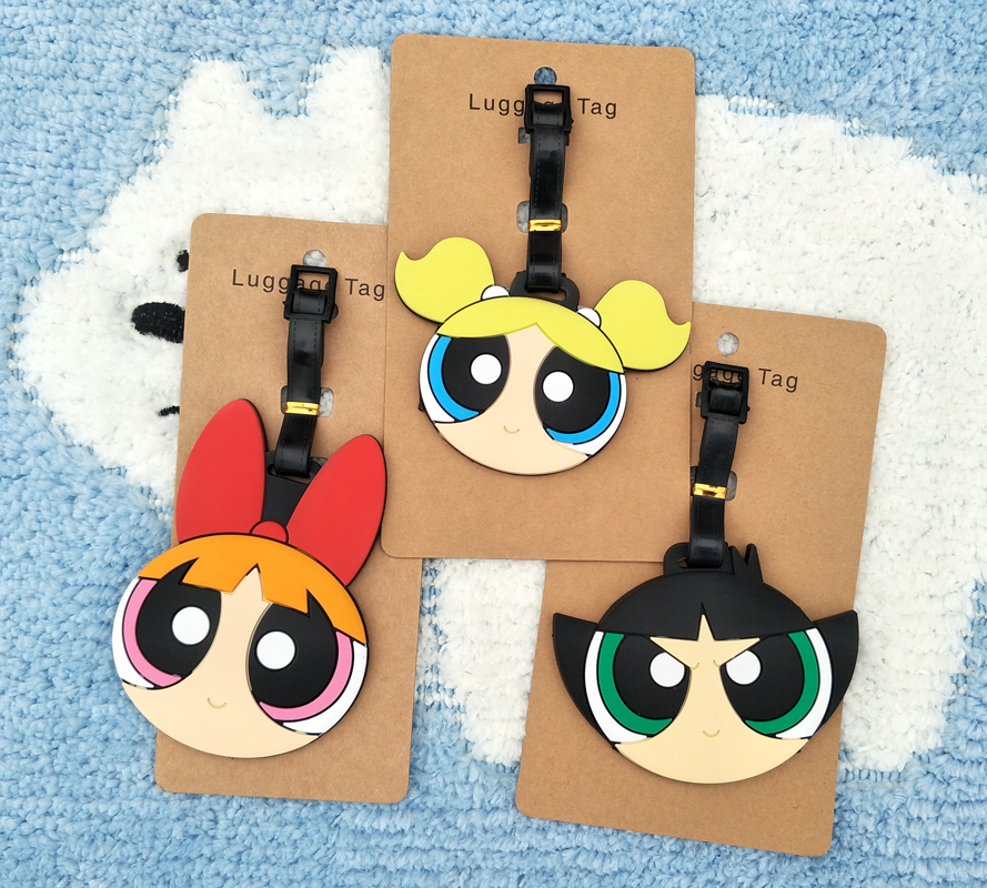 Figures Cartoon Luggage Anime Super-Girl Ornaments-Tags Decorative-Suitcase Gifts Action