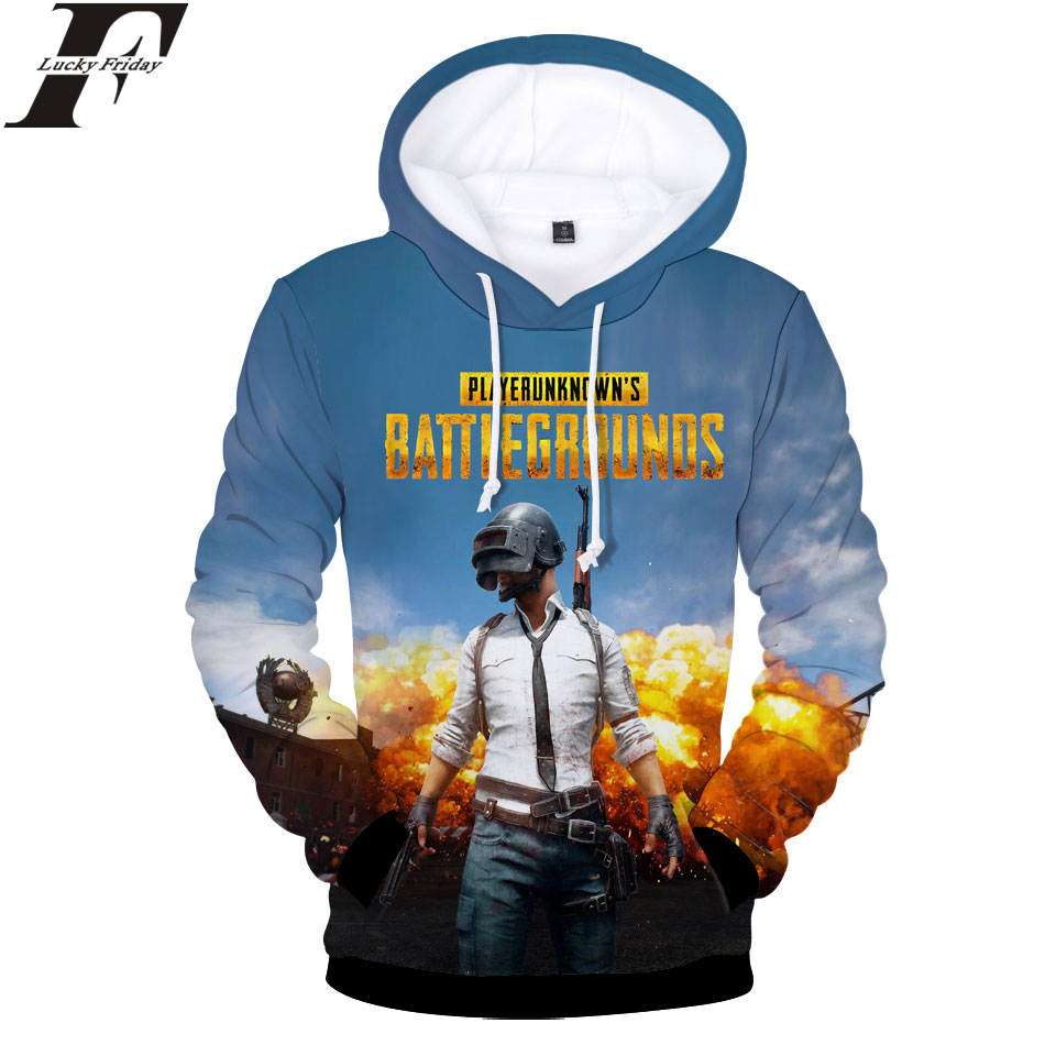 LUCKYFRIDAYF PUBG 3D Hoodies Sweatshirt Hot Online Game Women/Men Hoodies Fashion Hoodies Regular Style Casual Clothes Plus Size