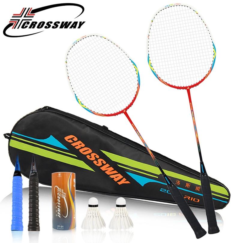 CROSSWAY 2pcs Quality Badminton Racket Professional ...