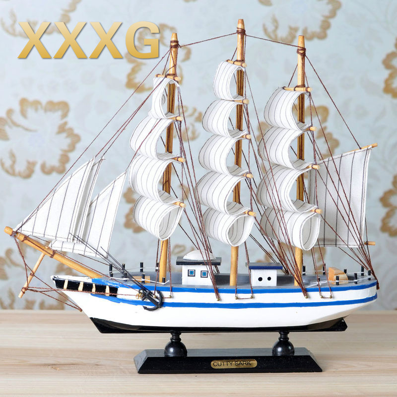 XXXG// Everything is going smoothly. sailing ship model Mediterranean style decor decoration wooden gift ship model simulation