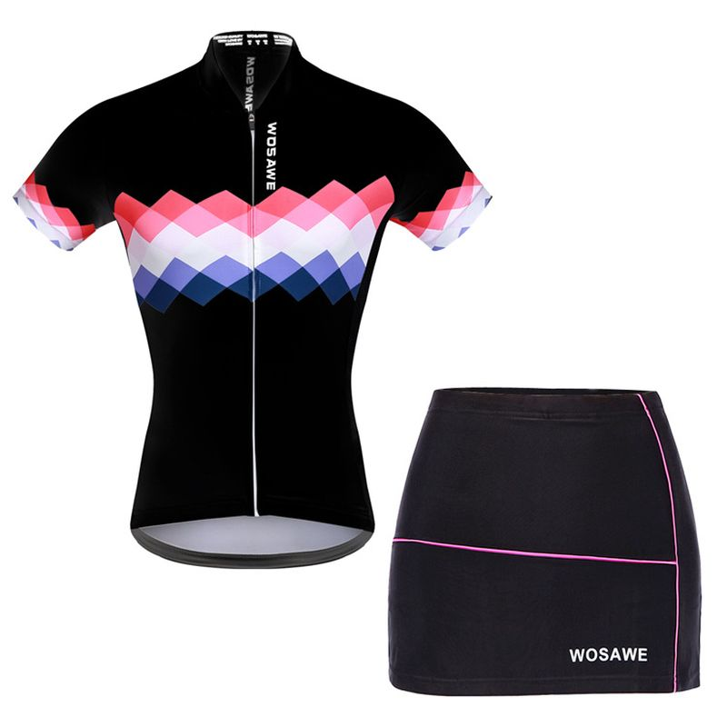 WOSAWE Women Summer Mtb Cycling Clothing Breathable Cycling Jersey Sets Gel Padded Bicycle Short Bike Clothes leobaiky 2018 pro long sleeve cycling jersey sets breathable 3d padded sportswear mountain bicycle bike apparel cycling clothing