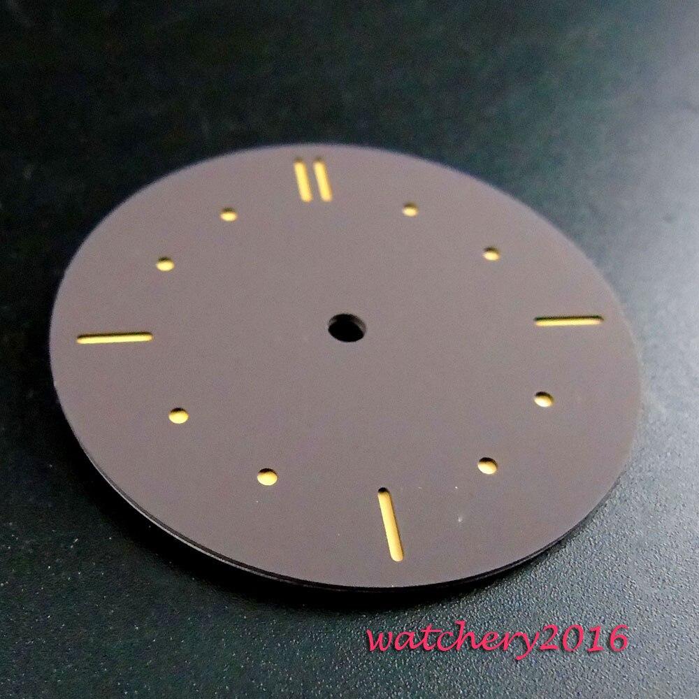 38.9mm coffee sterile dial orange marks fit ETA 6497 Sea gull 3600 movement Mens Watch dial