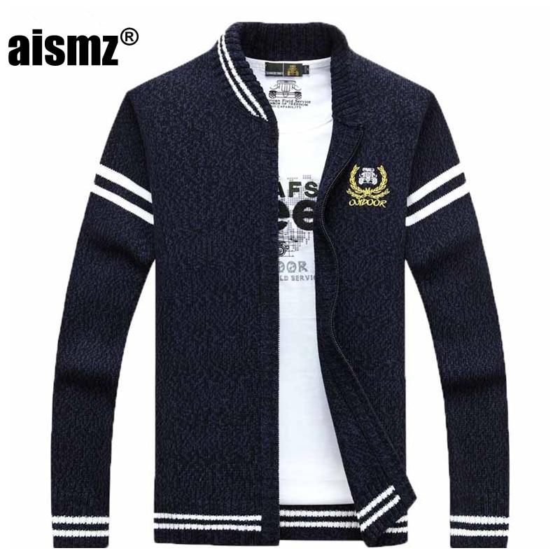 Aismz New Autumn Winter Sweater Men Clothes 2018 Pull Homme Sueter Hombre Man  Cardigan Men Sweaters Fashion Casual Roupas