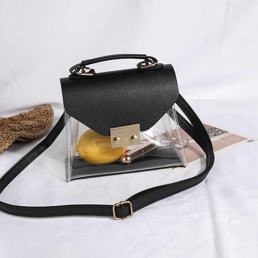 Przezroczysty PVC torba na ramię kobiety cukierki kolor torebki i torebki szaliki luksusowe torebki damskie torebki projektant Sac HOT