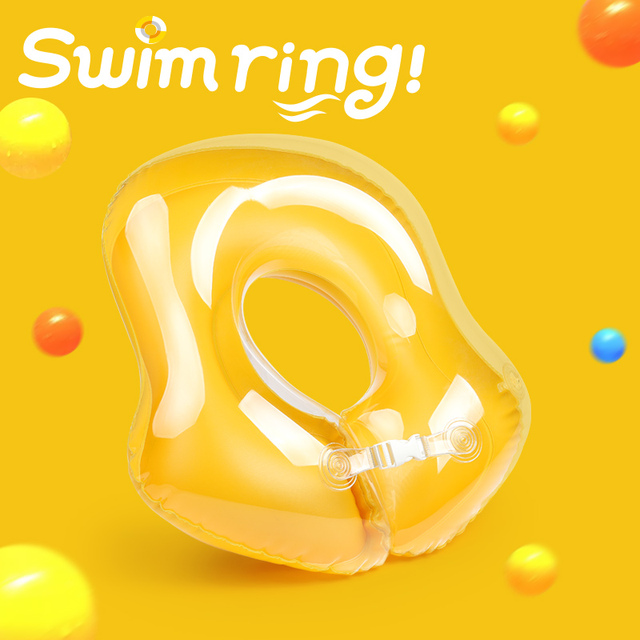 New Kids Inflatable Swimming Baby Swim Ring Floating Pool Accessories Infant Circle Inflatable Raft Children's Toy Double Airbag
