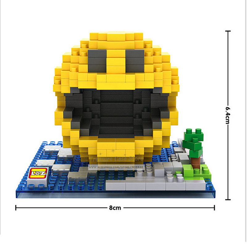 LOZ 9617 Mini Blocks Pixel Wars Pac-Man Diamond Building Blocks toys. лонгслив printio 2 pac