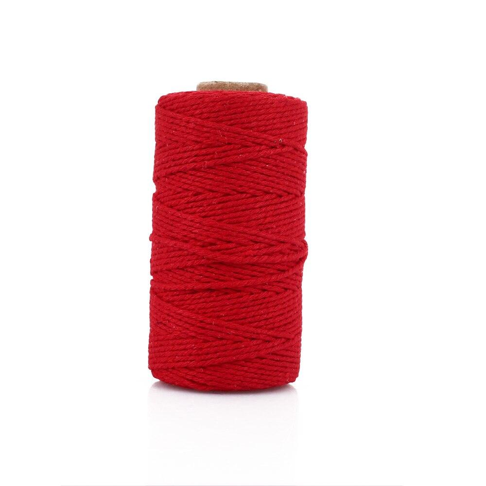 Хлопковое плетение из веревок веревка практичная 100 ярдов подарочная упаковка Artisan String Macrame Artisan Свадебная - Цвет: red