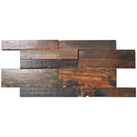 SMT A15104 Ancient Ship Wood Panel Interior Wall Coverings 11 Tiles 21.31 sq.ft
