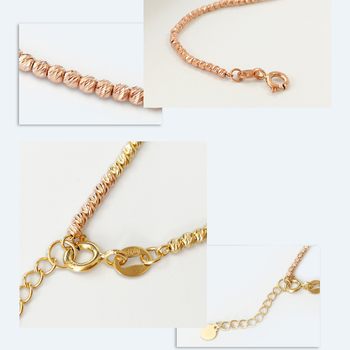 18k Gold Laser Beads Strands Bracelet 1