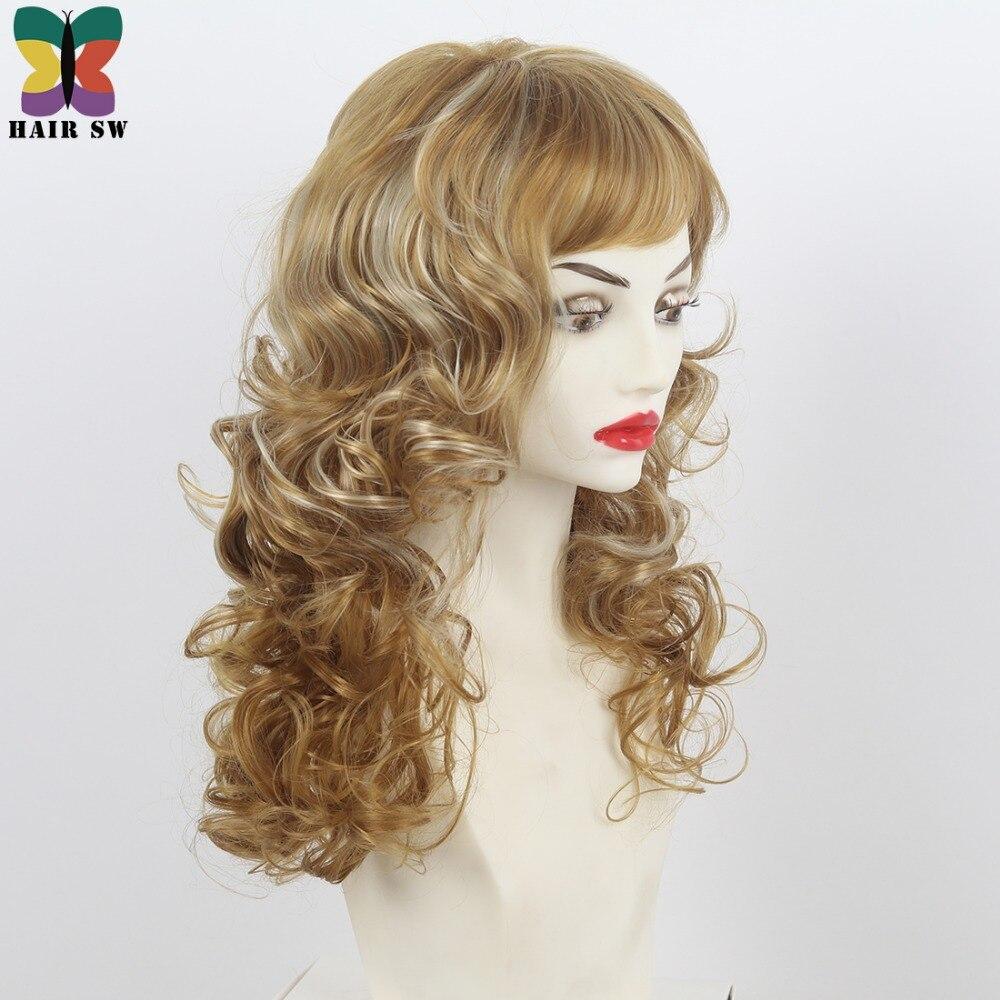 Aliexpress Buy Hair Sw Medium Length Wavy Synthetic Wig Dark