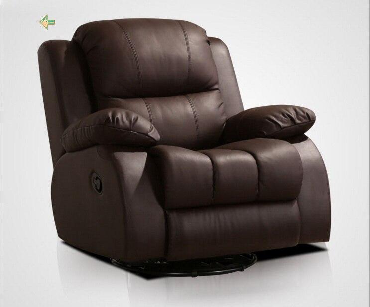 Living Room Chair Cadeira Poltrona Genuine Leather Chair Sillas Fauteuil Silla Sillon Rocking Chair Meditation Armchair Cadeiras