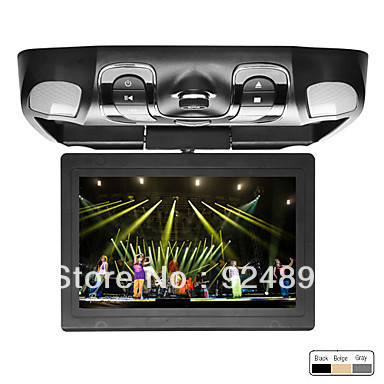 12.1 Inch Roof Mount Car DVD Player with Analog TV Support DVD,SD,USB,FM,IR,MP4, Wireless Game