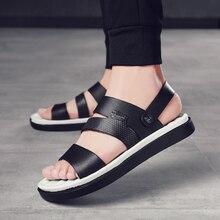 Sandals mens shoes 2019 sandals Roman summer flat 39 44 gladiator