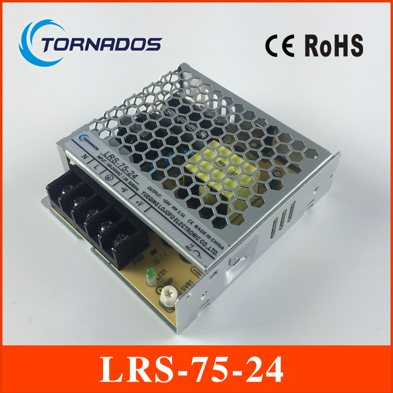 LRS-75-24  ac-dc single output 75w 24v slim type Switching Power Supply Driver for LED Strip AC 85-264V Input to DC meanwell 24v 75w ul certificated nes series switching power supply 85 264v ac to 24v dc