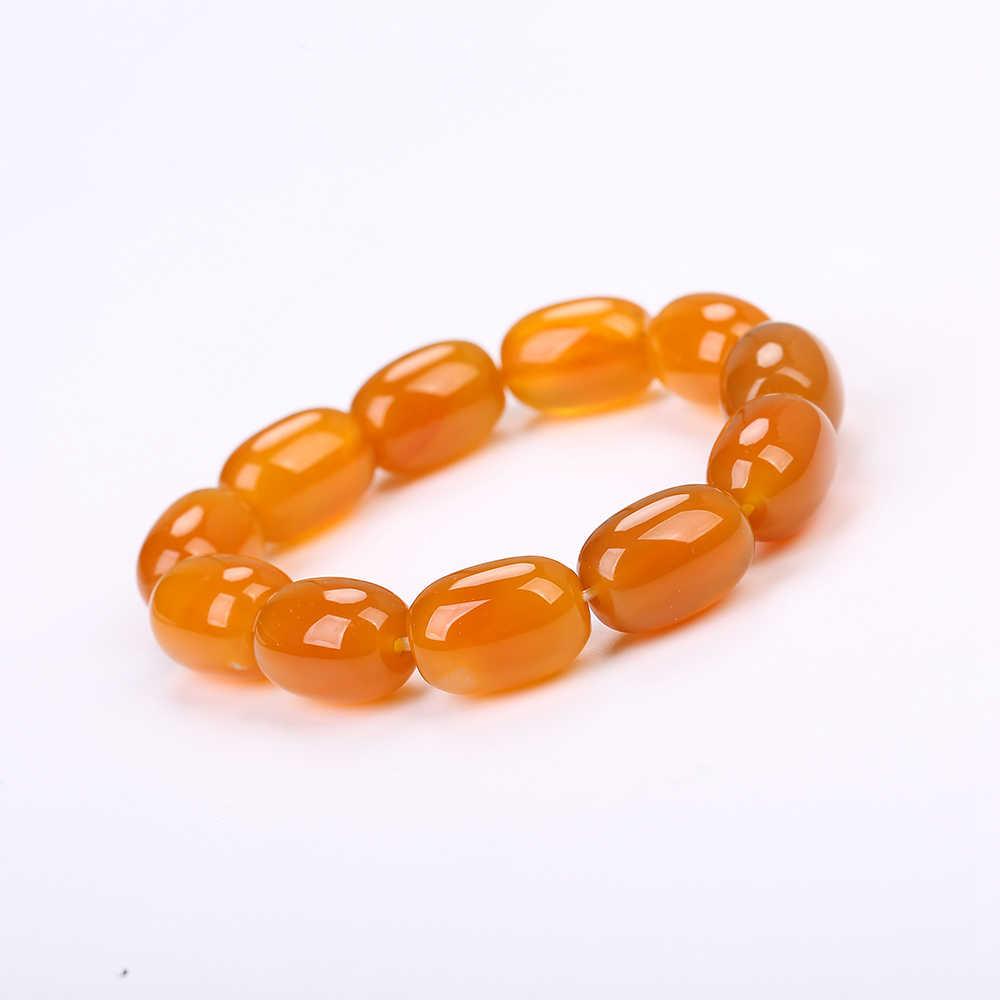 Kamień naturalny onyks agaty bransoletki bransoletki Topaz żyły joga Mala koraliki medytacja uzdrowienie energii moda biżuteria kehribar tesbih