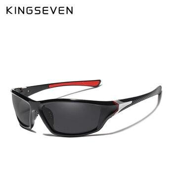 KINGSEVEN Brand Polarized Sunglasses Men Designer Sun Glasses Travel Driving Male Square Night Vision Eyewear - discount item  45% OFF Eyewear & Accessories