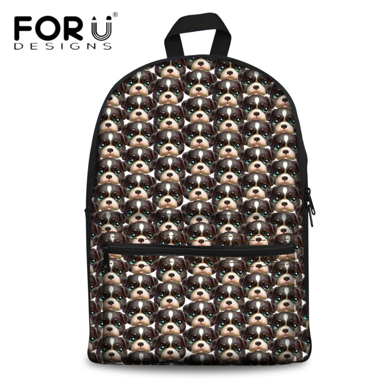 FORUDESIGNS Women Canvas Backpack 3D Animal Dog Pattern School Bags for College Student Casual Laptop Picnic Back Pack MochilaFORUDESIGNS Women Canvas Backpack 3D Animal Dog Pattern School Bags for College Student Casual Laptop Picnic Back Pack Mochila