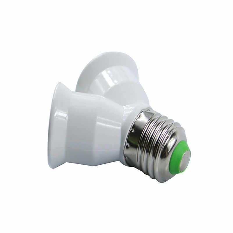 5pcs/Lot High Quality 2 In 1 E27 to E27 LED Lamp Bulbs Socket Splitter Adapter Holder For Photo Studio