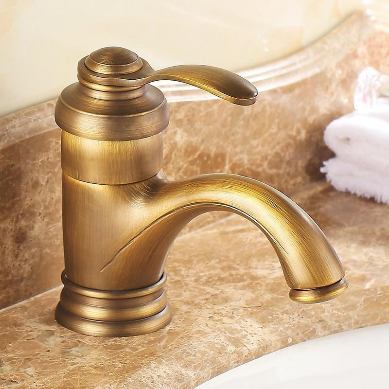 Antique faucet bathroom sink water bathroom faucets single handle crane Sink Basin Mixer Tap EL7402