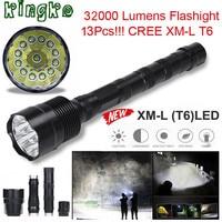 High Quality XLightFire 32000 Lumens 13x CREE XML T6 5 Mode 18650 Super Bright LED Flashlight