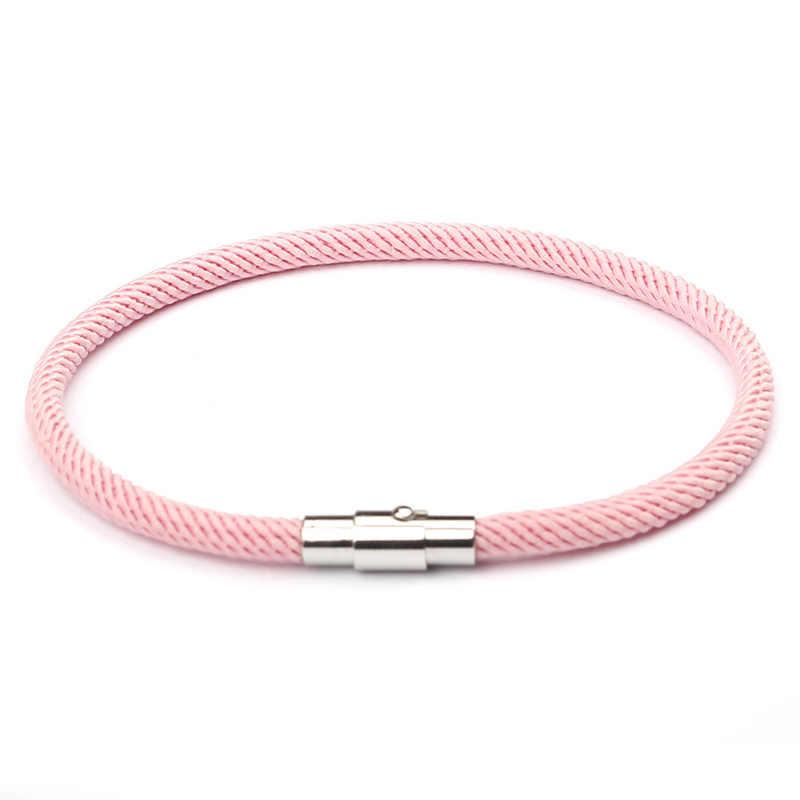 NIUYITID 赤糸ブレスレット女性男性シルバーカラーの磁気バックルチャームガールズのギフトジュエリー卸売価格 pulsera ロハ