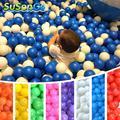 Océano Bola Colorida Del Cabrito Del Bebé Del Juguete de la Nadada Pit Piscina de Agua 100 unids/set onda bola respetuosa del medio ambiente outdoor fun sports toys soft plástico