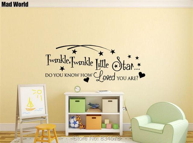 Mad World Twinkle Twinkle Little Star Baby Wall Art Stickers Wall ...