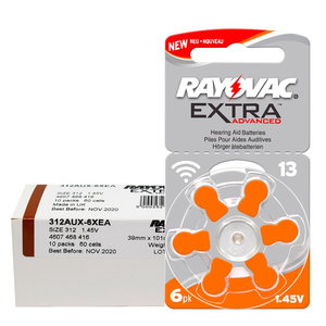 Image 3 - 180 PCS RAYOVAC EXTRA Zinc Air Performance Hearing Aid Batteries  A13 13A 13 P13 PR48 Hearing Aid Battery A13 Free Shipping