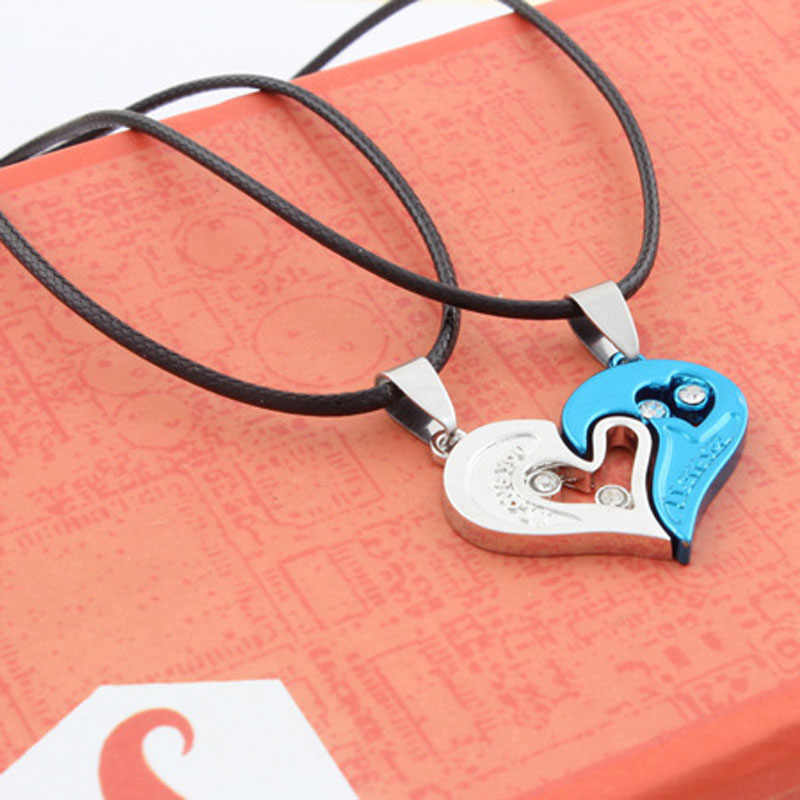 Choker Moana Overwatch Lnrrabc Fashion 1 Set Women For I Love You Heart Shape Pendant Necklace For Lovers Couples Jewelry Gift
