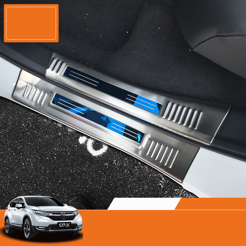 LSRTW2017 car styling car doorsill for honda crv 2017 2018 5th generation lsrtw2017 car styling car trunk trims for honda crv 2017 2018 5th generation
