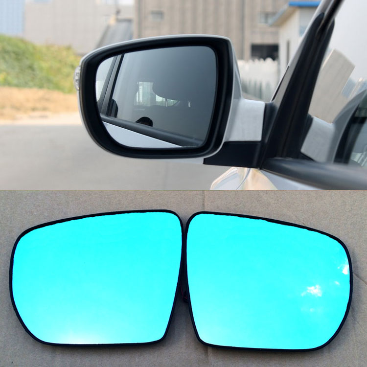 Ipoboo 2pcs New Power Heated w/Turn Signal Side View Mirror Blue Glasses For Hyundai Ix35