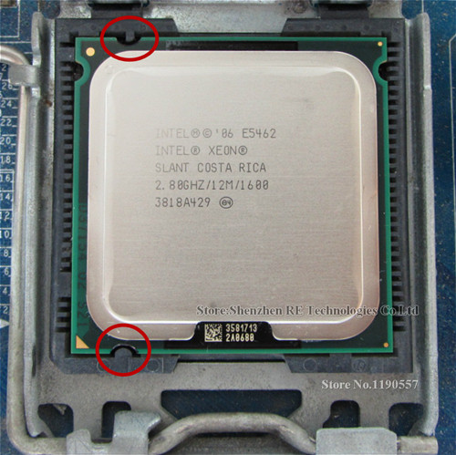 Процессор XEON E5462 2,8 ГГц 12 МБ 1600 МГц, аналогичный процессору Core 2 Quad Q9550, работает на материнской плате LGA775
