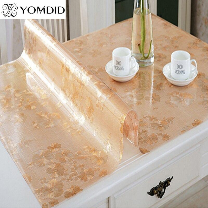 dot flor color de pvc placa de cristal mantel de vidrio blando mesa de comedor estera