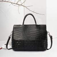 FoxTail & Lily Crocodile Pattern Women Real Leather Tote Bag Genuine Leather Handbags Luxury Designer Shoulder Crossbody Bags