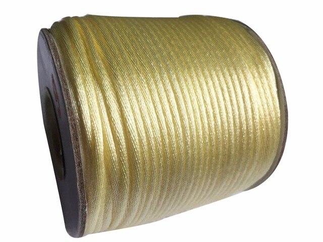 2mm crema rattail mancha nylon + resultados de la joyería Accesorios Hilos macrame cuerda Shamballa pulsera beading cadena Cordones 60 M