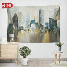 Картина маслом гобелен для Нью-Йорка, декор для гостиной, хиппи, Настенный Ковер, гобелены, ткань для спальни, общежития, коврик для йоги, скатерть