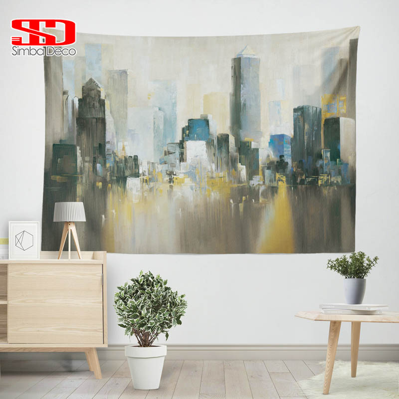 Oil Painting Tapestry For New York City Living Room Decor