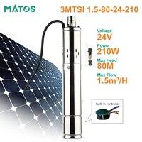 12v 24v high pressure dc brushless depp well solar submersible water pump
